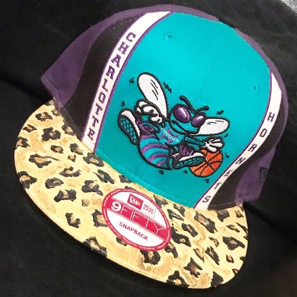 Charlotte Hornets Leopard Print SnapBack. NWT. New Era 781783fc7e00